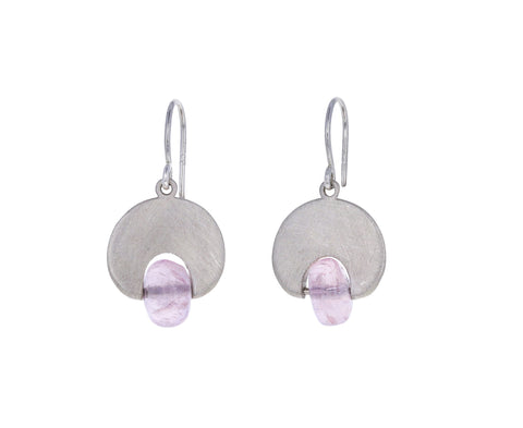 Morganite Lily Pad Earrings