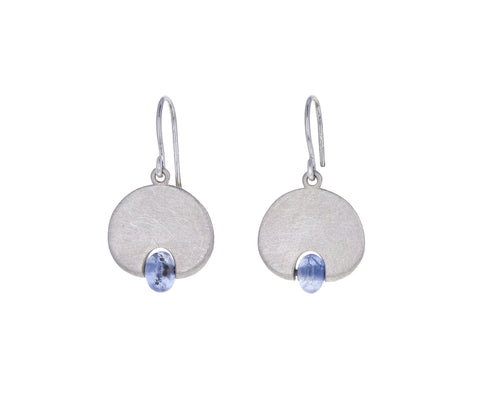 Light Blue Sapphire Lily Pad Earrings