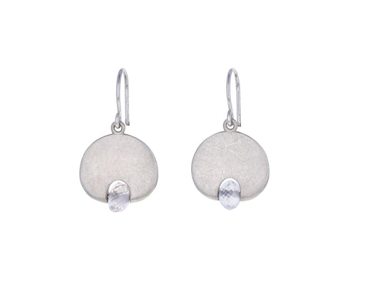 White Sapphire Lily Pad Earrings