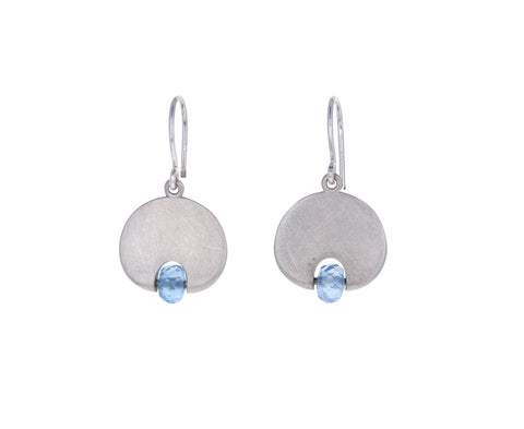 Aquamarine Lily Pad Earrings