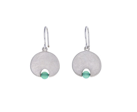 Chrysoprase Lily Pad Earrings