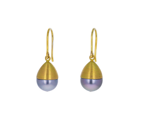 Tahitian Pearl Buoy Earrings