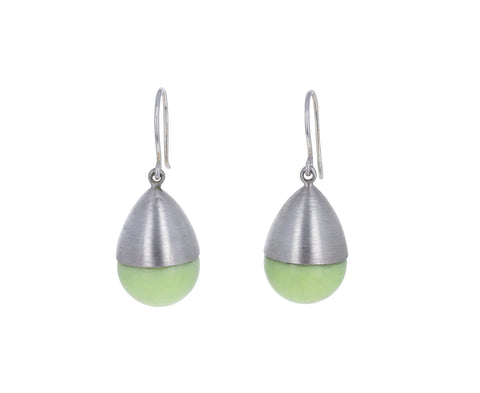 Lemon Chrysoprase Buoy Earrings