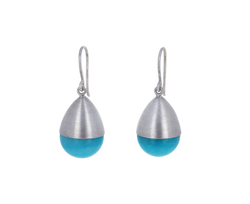 Large Amazonite Buoy Earrings