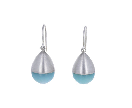Light Blue Aragonite Buoy Earrings