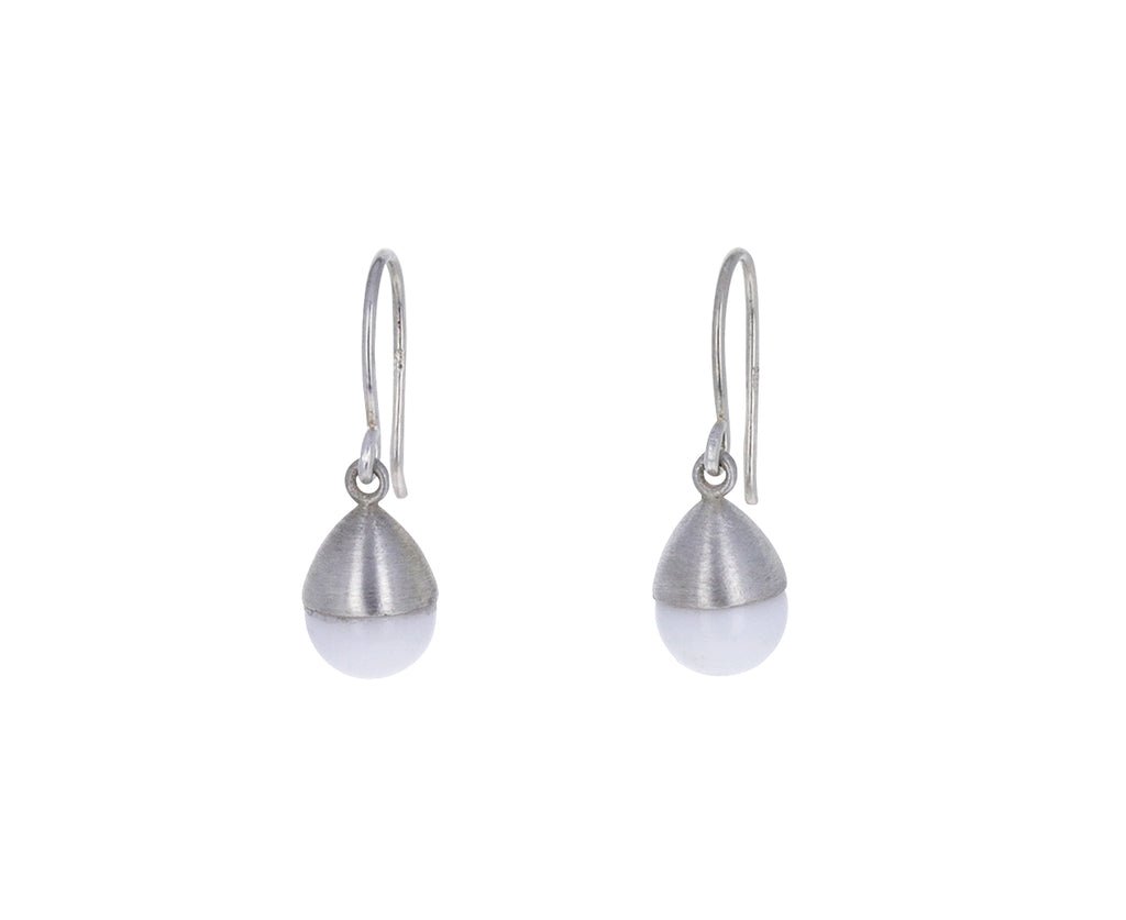 White Onyx Buoy Earrings