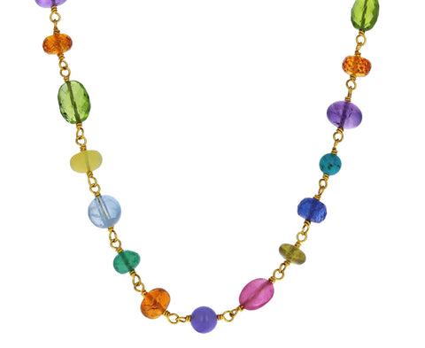Rainbow Spun Sugar Necklace