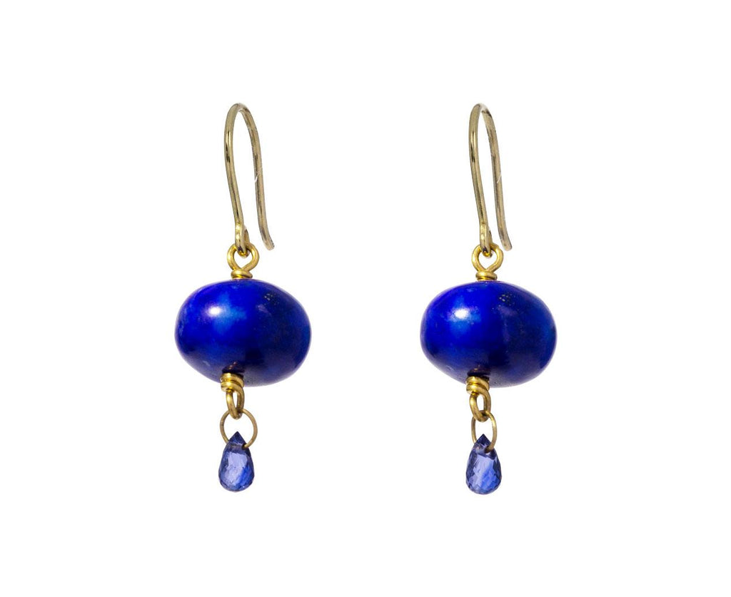 Lapis and Sapphire Spun Sugar Earrings zoom 1_mallary_marks_lapis_sapphire_briolette_earrings