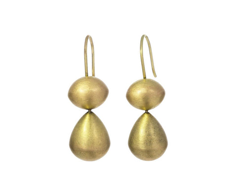 Two Tier Gold Buoy Earrings - TWISTonline