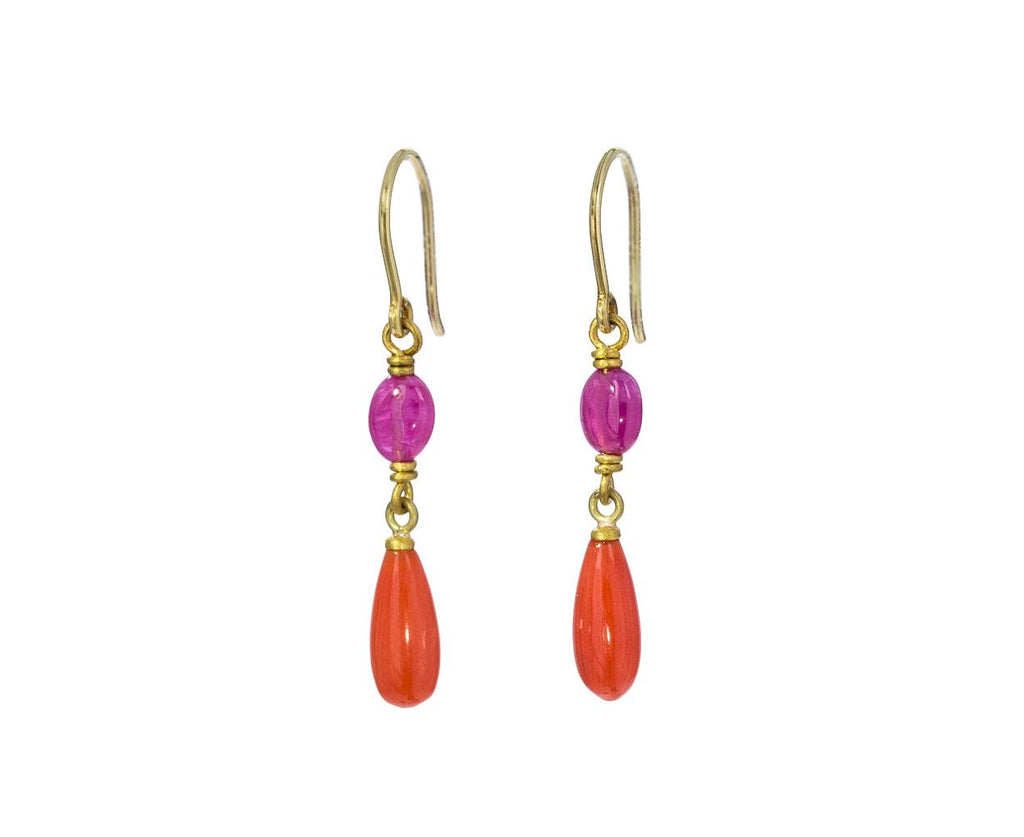 Ruby and Coral Spun Sugar Earrings - TWISTonline