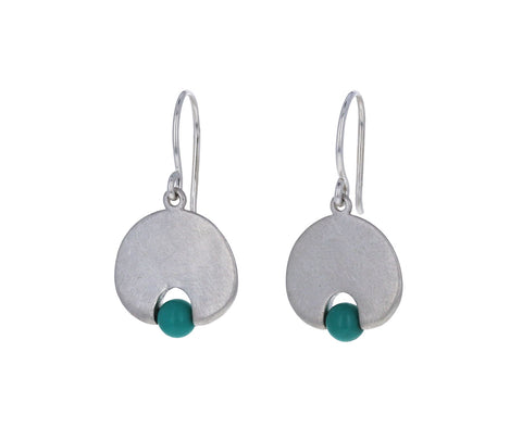 Mallary Marks Dark Turquoise Lily Pad Earrings