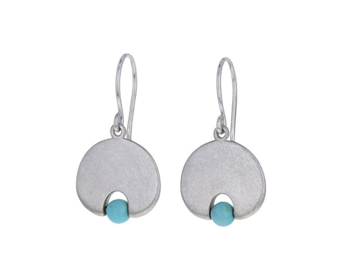 Mallary Marks Light Turquoise Lily Pad Earrings