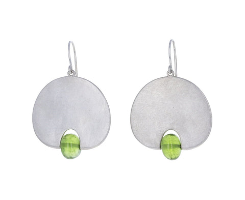 Mallary Marks Large Peridot Lily Pad Earrings