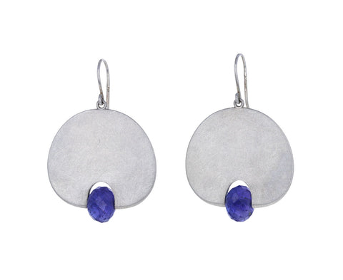 Mallary Marks Large Tanzanite Lily Pad Earrings