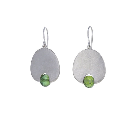 Mallary Marks Green Tourmaline Medium Lily Pad Earrings
