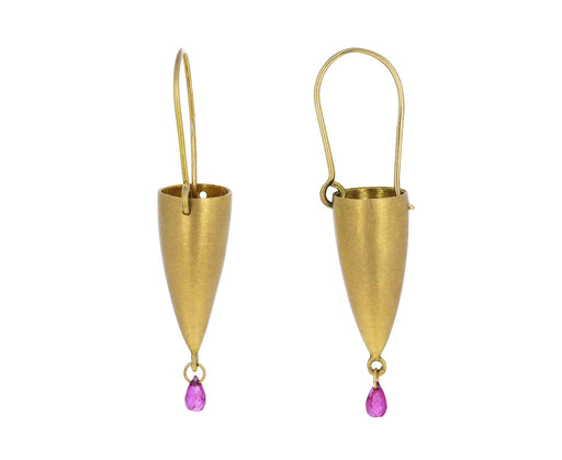Ruby Briolette Lantern Earrings