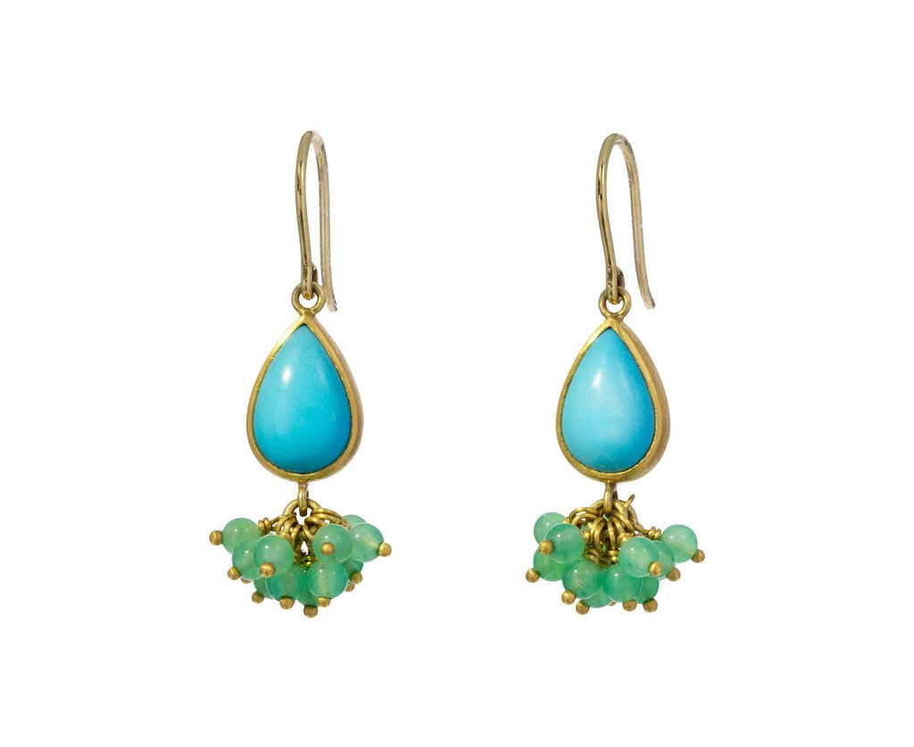 Turquoise and Chrysoprase Sprinkle Earrings zoom 1_mallary_marks_turquoise_chrysoprase_sprinkle_nec
