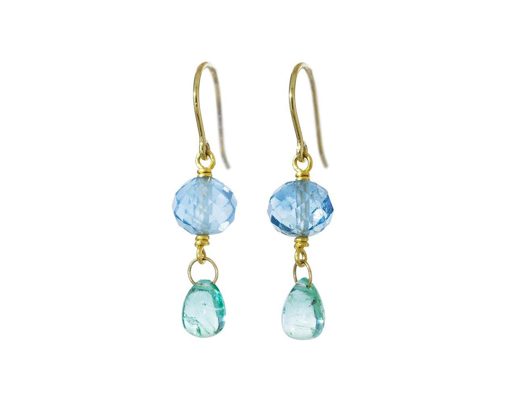 Aquamarine and Emerald Spun Sugar Earrings - TWISTonline