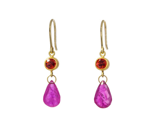 Red Sapphire and Ruby Apple and Eve Earrings - TWISTonline