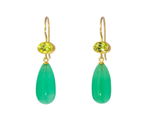 Chrysoberyl and Chrysoprase Apple and Eve Earrings - TWISTonline