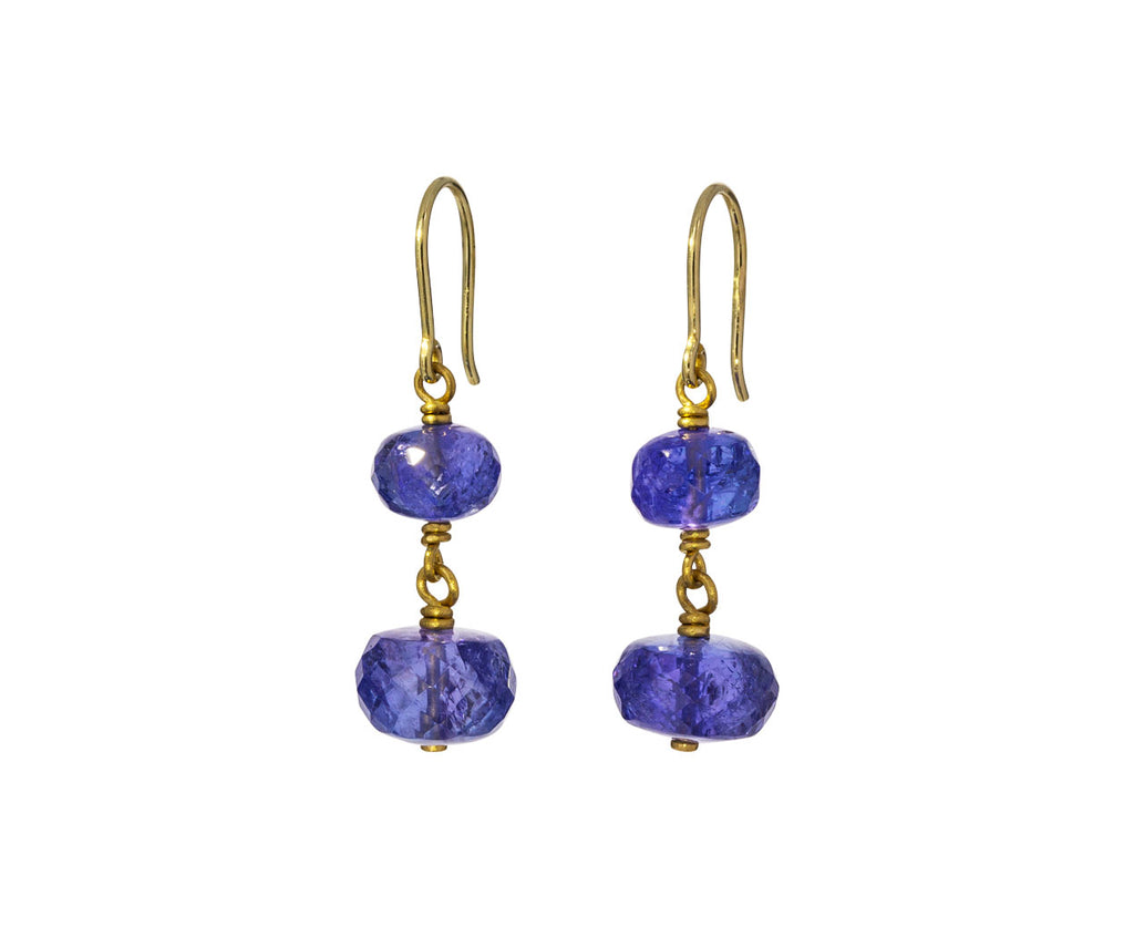 Tanzanite Spun Sugar Earrings