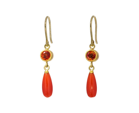Sapphire and Coral Apple and Eve Earrings - TWISTonline