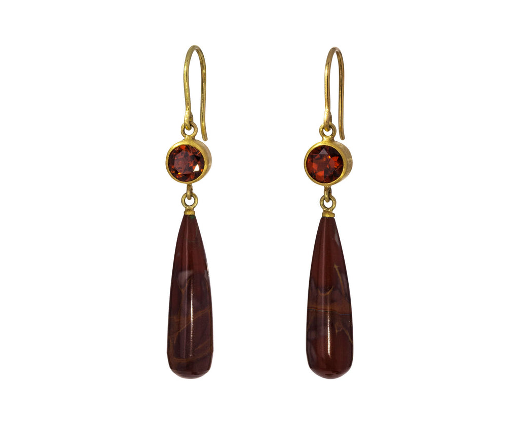 Hessonite and Jasper Apple and Eve Earrings