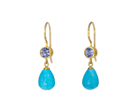 Sapphire and Turquoise Apple and Eve Earrings - TWISTonline