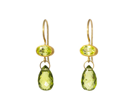 Peridot and Chrysoberyl Apple and Eve Earrings - TWISTonline