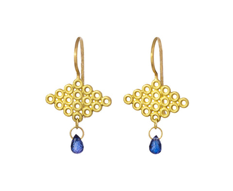 Blue Sapphire Annelli Earrings - TWISTonline