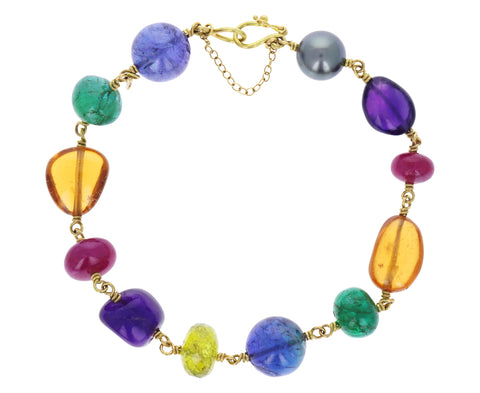 Multi Gem Spun Sugar Bracelet