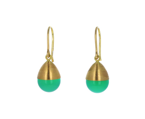 Chrysoprase Buoy Earrings