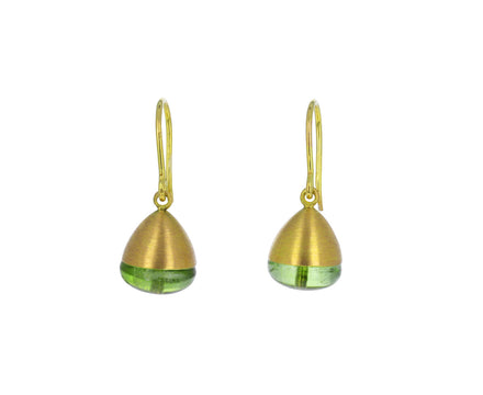 Peridot Buoy Bead Earrings