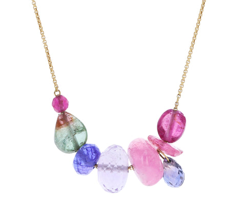 Multi Gem Collage Necklace