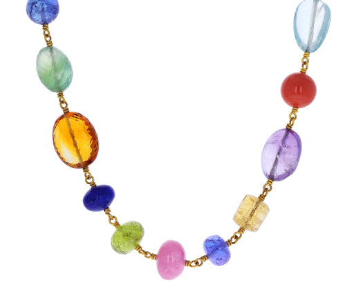 Multi Gem Spun Sugar Necklace