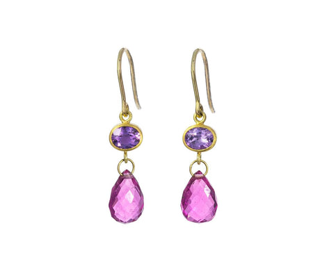 Amethyst and Rubelite Apple and Eve Earrings - TWISTonline