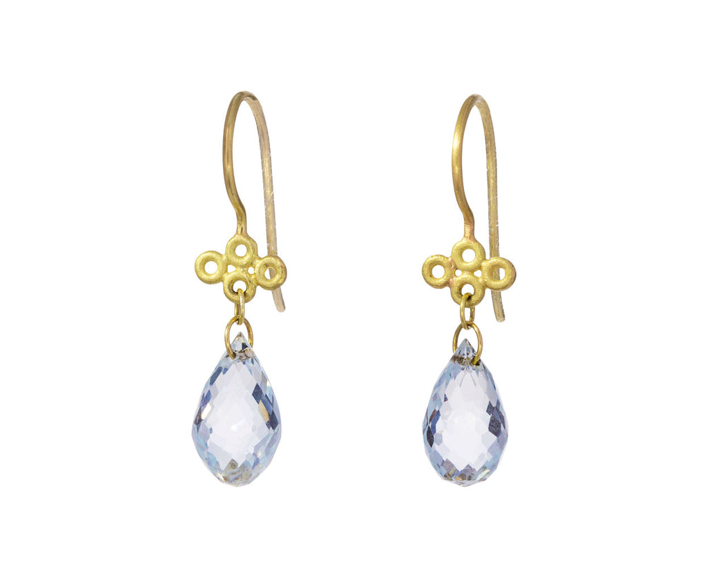 Aquamarine Tibetan Cloud Earrings