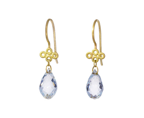 Aquamarine Tibetan Cloud Earrings - TWISTonline