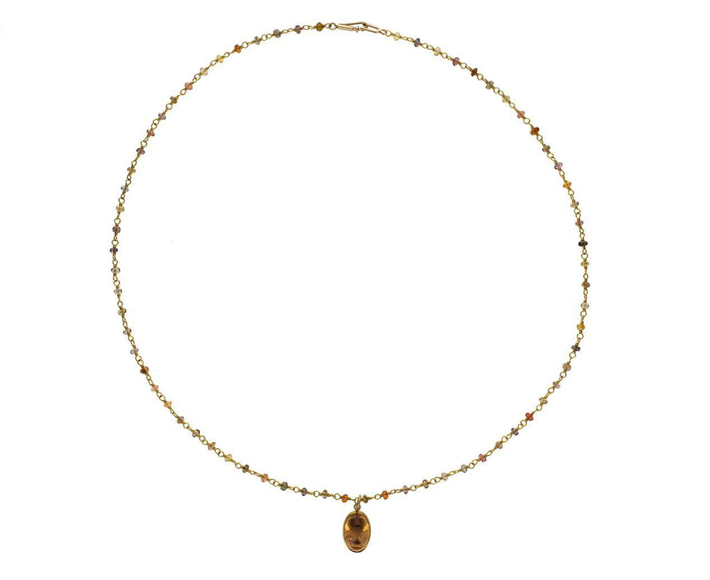 Earth Toned Spinel and Imperial Topaz Spun Sugar Necklace - TWISTonline