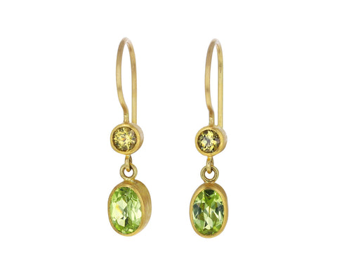 Chrysoberyl and Mali Garnet Bon Bon Earrings