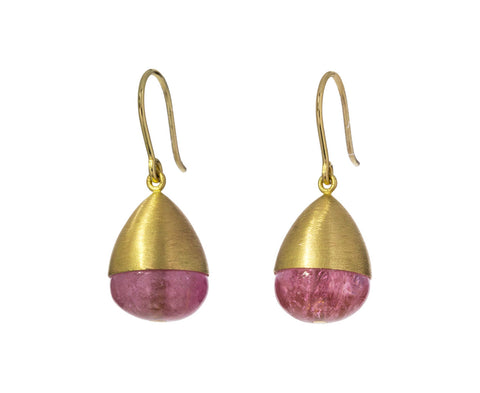 Pink Tourmaline Buoy Earrings - TWISTonline