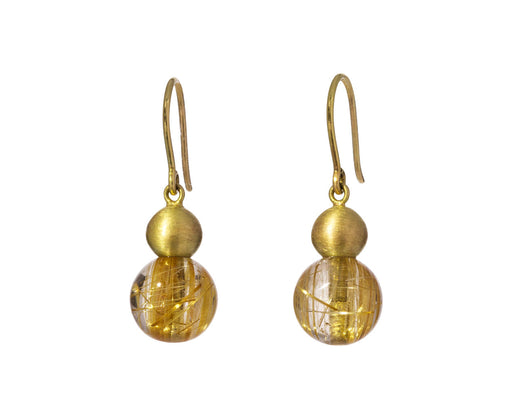 Rutilated Quartz Buoy Earrings - TWISTonline