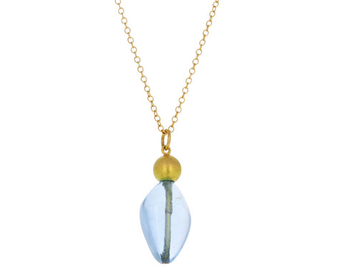 Quirky Aquamarine Buoy Necklace