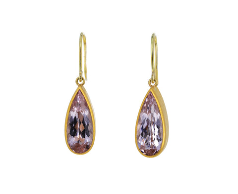 Morganite Apple and Eve Earrings