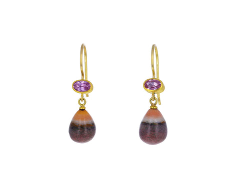 Sapphire and Mookaite Apple and Eve Earrings