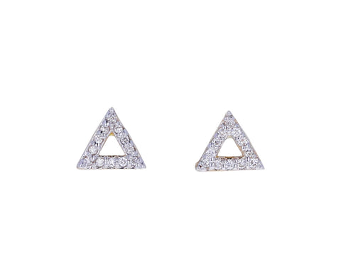 Mini Diamond Triangle Stud Earrings