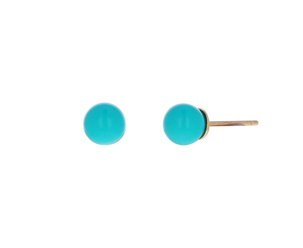Turquoise Sphere Stud Earrings
