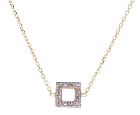 Mini Diamond Square Necklace