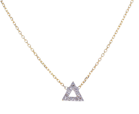 Mini Diamond Triangle Necklace