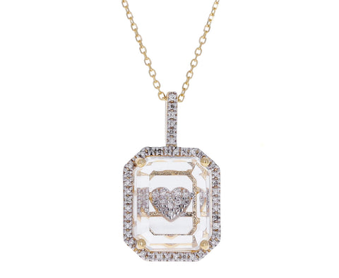 Secret Diamond Heart Pendant Necklace